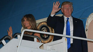 Le président Donald Trump et la Première dame Mélania sont arrivés en Sicile jeudi 25 mai.