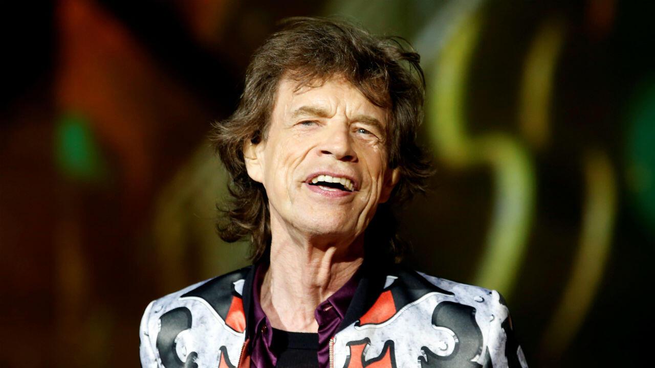 Mick Jagger sur scène, le 26juin2018 à Marseille.