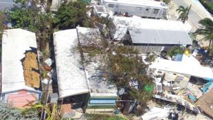 Les dégâts causés par l'ouragan Irma, le 12 septembre à Isamorada, un village de l'archipel de Keys.