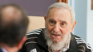 Fidel Castro, photographié en mai 2015.