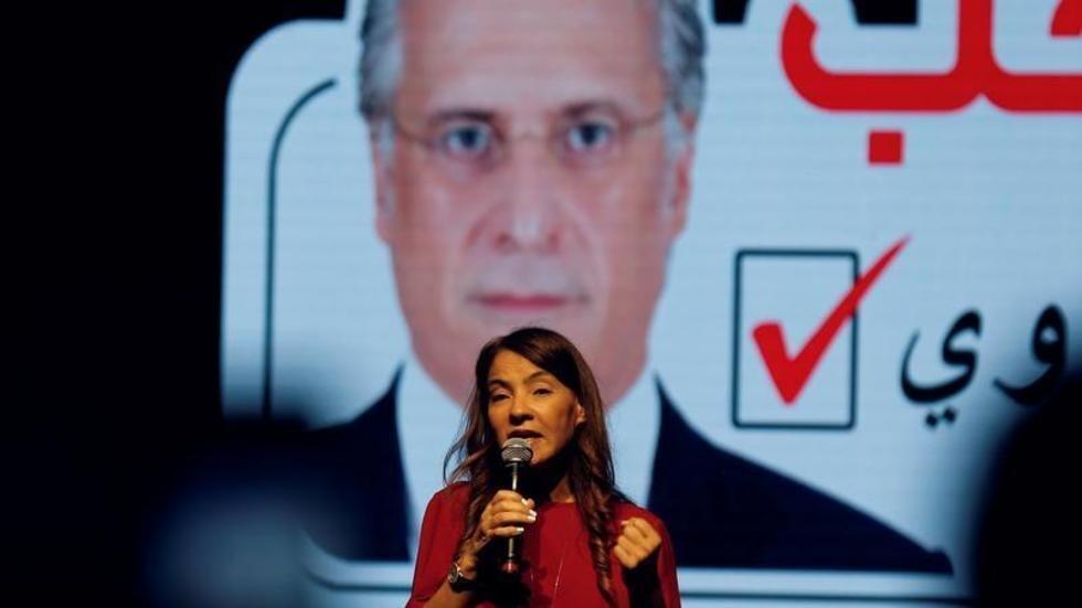 زوجة المرشح للدورة الثانية للانتخابات الرئاسية التونسية نبيل القروي.