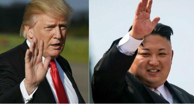 El presidente de Estados Unidos, Donald Trump (izquierda) y el líder de Corea del Norte, Kim Jong UN (derecha)