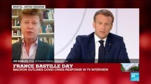 2020-07-14 15:01 France Bastille Day, Macron backs masks in enclosed public spaces