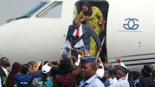 L'opposant congolais Jean-Pierre Bemba est arrivé à l'aéroport de Kinshasa le 1er août 2018.