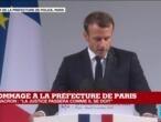 """Hommage à la préfecture de police : E. Macron lève le """"voile de l'anonymat sur les quatre victimes"""""""