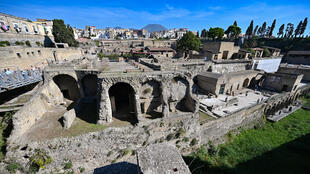 The preserved brain cells were found in the remains of a man at the archaeological site at Herculaneum