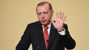 الرئيس التركي رجب طيب أردوغان في تونس، في 27 كانون الأول/ديسمبر 2017.