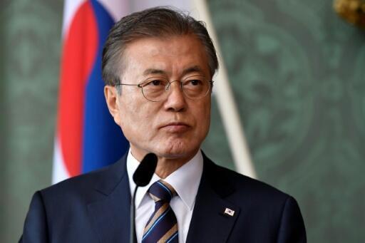 Archivo: el presidente de Corea del Sur, Moon Jae-in, se reunió con ejecutivos de las firmas más grandes del país para discutir la crisis por Covid-19.