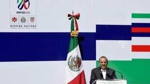 Mexican Interior minister, Alfonso Navarrete Prida, seen in February 2018, responded to a comment by US President Donald Trump criticizing Mexico's murder rate