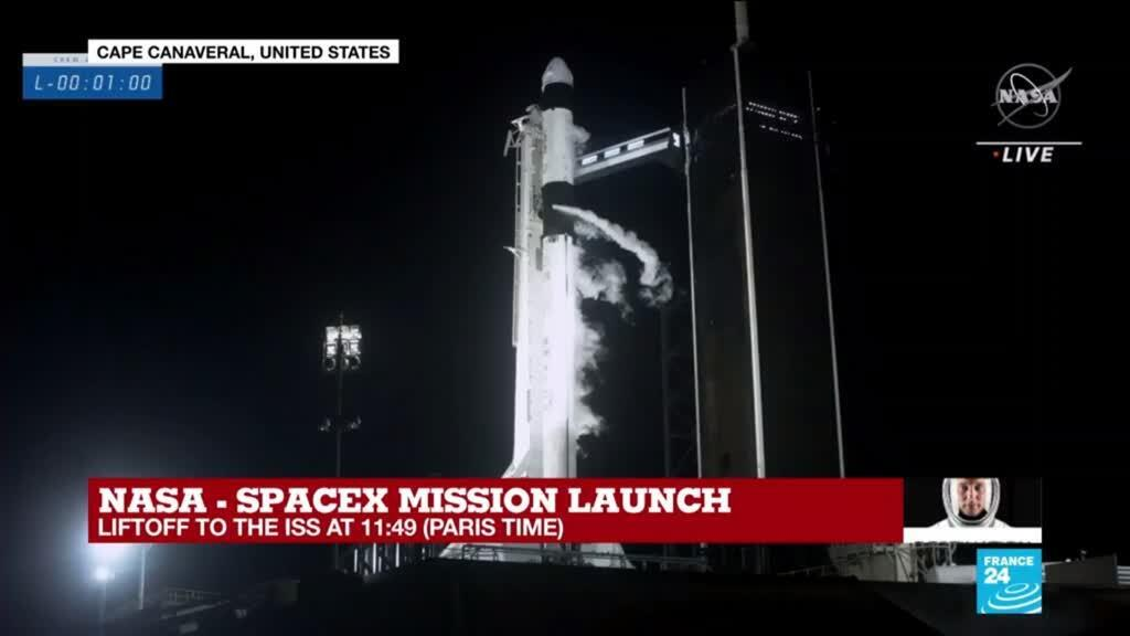 2021-04-23 11:48 'And liftoff': NASA-SpaceX mission blasts into space, and history