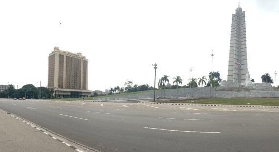 Cuba's defence ministry in Havana's Plaza de la Revolucion. Future home to Fidel Castro's face?