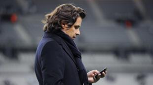 Le président de l'OM Vincent Labrune, le 7 janvier 2012 au Stade de France avant un match de coupe de France contre le Red Star.