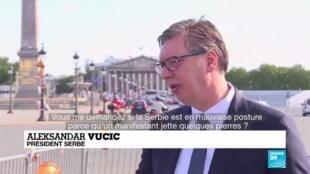 2020-07-10 10:07 Manifestations en Serbie : Aleksandar Vucic réagit depuis la France