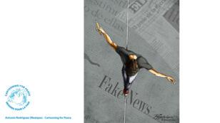 L'artiste mexicain Antonio Rodriguez s'inquiète des obstacles rencontrés par la liberté de la presse.