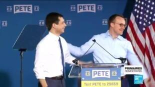 2020-02-05 12:04 Primaires démocrates : Pete Buttigieg, le candidat gay de 38 ans en tête des premiers suffrages