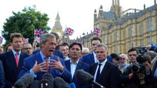 Nigel Farage, chef de file des europhobes britanniques, a été l'un des principaux instigateur des relents xénophobes de la campagne.