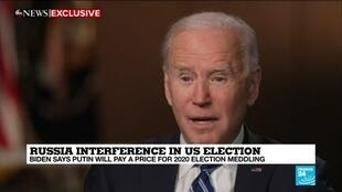 2021-03-17 16:02 Biden says Russia's Putin will pay a price for election interference
