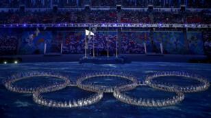 La cérémonie de clôture des JO de Sotchi, en Russie, le 23 février 2014.