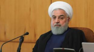 Le président iranien, Hassan Rohani, en Conseil des ministres à Téhéran, le 24 octobre 2018.
