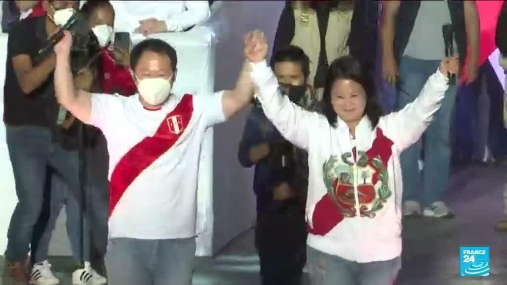 2021-06-07 12:01 Fujimori edges ahead of Castillo in tight Peru presidential vote