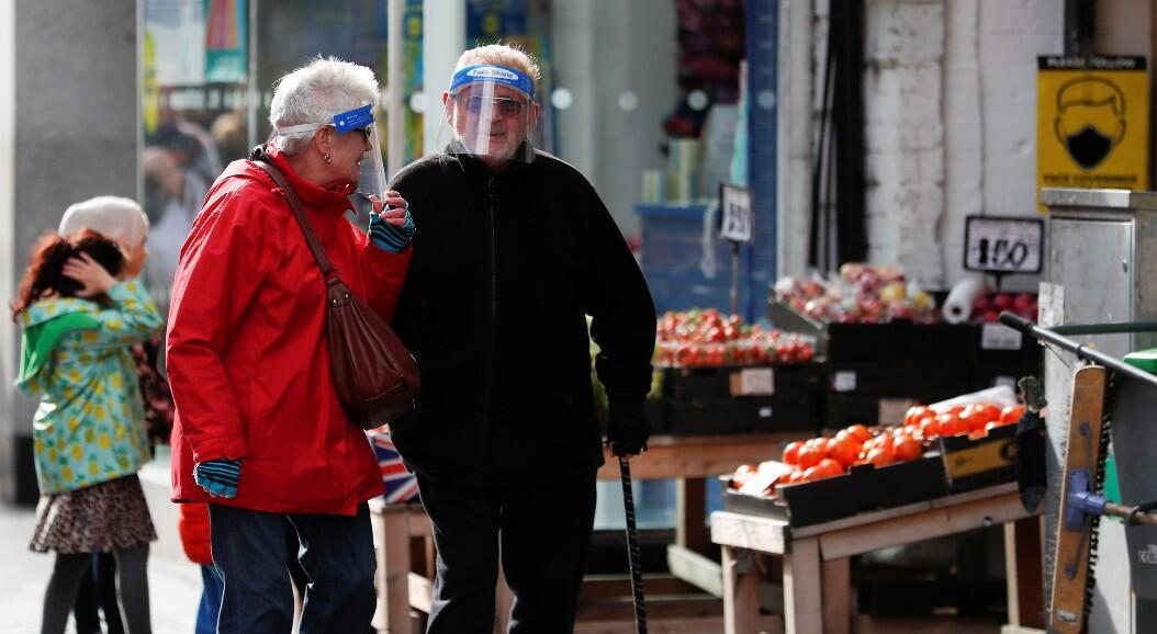 File - People wearing protective masks against Covid-19, in Middleborough, United Kingdom, on October 2, 2020.