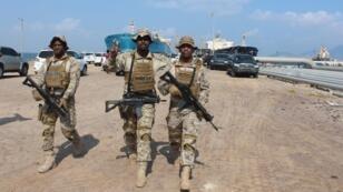 Des soldats loyaux à la coalition menée par l'Arabie saoudite à Aden, le 29 octobre 2018.