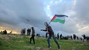 Palestinian protesters have staged often-violent demonstrations along the Gaza Strip's border with Israel for almost a year