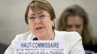 المفوضة السامية للأمم المتحدة لحقوق الإنسان ميشيل باشليه.