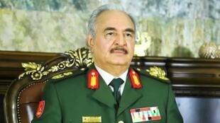 قائد الجيش الوطني الليبي المشير خليفة حفتر، صورة ملتقطة عن الشاشة.