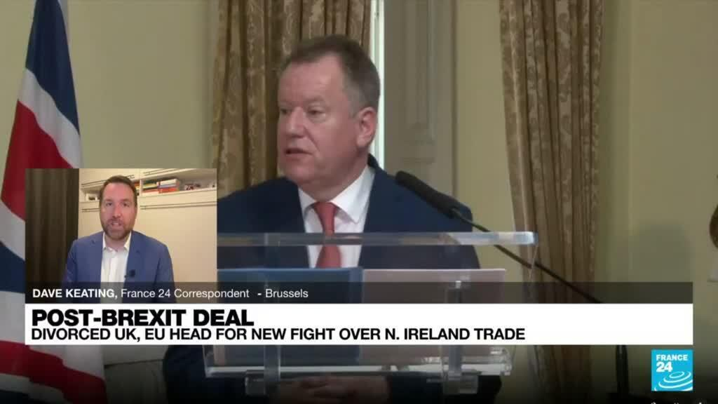 2021-10-13 08:02 Divorced UK and EU head for new Brexit fight over N. Ireland trade