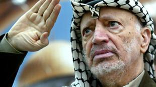 L'ancien président de l'Autorité palestinienne et prix Nobel de la paix, Yasser Arafat.