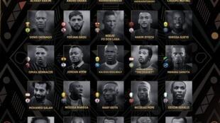 La liste des 30 joueurs nommés pour remporter le trophée.