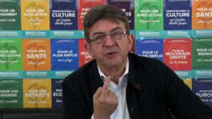 Image tirée d'une intervention vidéo de Jean-Luc Mélenchon, le 28 avril 2017.