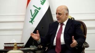 رئيس الوزراء العراقي حيدر العبادي في بغداد في 23 تشرين الأول/أكتوبر 2017