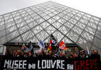 Strike over France's pension reform forces shut Louvre museum