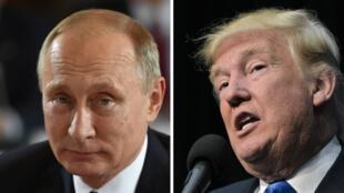 الرئيس الروسي فلاديمير بوتين ونظيره الأمريكي دونالد ترامب