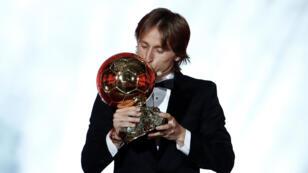 """""""Este Balón de Oro es todo lo que yo podía soñar"""", dijo el croata en el Gran Palais, en París, este 3 de diciembre."""