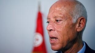 Le nouveau président de la République de Tunisie, Kaïs Saïed, ici comme candidat le 17 septembre 2019.