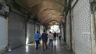 Les boutiques fermées du Grand Bazar de Téhéran, le 25 juin 2018.