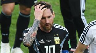 Le capitaine argentin Lionel Messi a raté un penalty durant le match contre l'Islande.