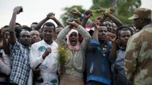 مظاهرات بمدينة بيشوفتو في 2 أكتوبر/تشرين الأول