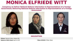 L'avis de recherche lancé par le FBI sur Monica Witt.