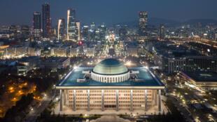 South Korea's National Assembly building was closed as a coronavirus precaution