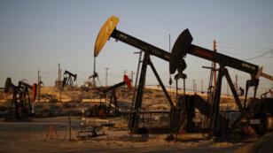 Des puits de pétrole dans le bassin de Monterey, en Californie, où du pétrole et du gaz de schiste sont extraits grâce à la fracturation hydraulique.