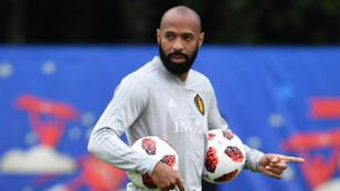 Thierry Henry lors du Mondial-2018 en Russie, alors qu'il était membre du staff des Diables rouges.