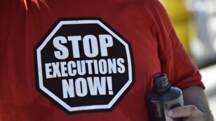 Un activiste contre la peine de mort aux Etats-Unis, en juin 2016.