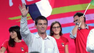 Manuel Valls lors de l'université d'été du PS, à La Rochelle, dimanche 31 août 2014.