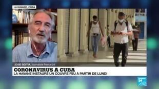 """2020-08-28 23:10 Coronavirus à Cuba : """"Pour la première fois, Cuba impose un couvre-feu"""""""
