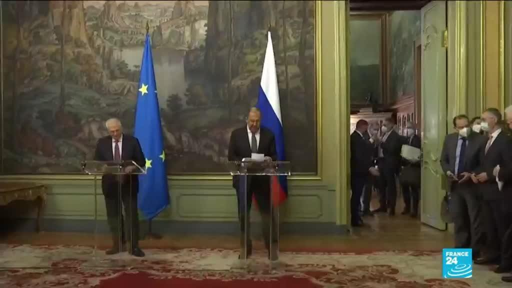 2021-02-05 15:01 Russia's Lavrov, EU's Borrell recognize ties at 'low point' during visit, amid Navalny case