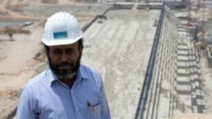 سيمينيو بيكيلي مدير مشروع سد النهضة في إثيوبيا في آذار/مارس 2015
